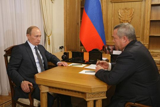 Встреча Губернатора РО Голубева В.Ю. с В.В.Путиным