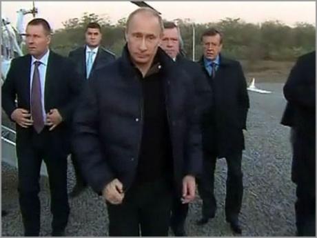 Председатель Правительства РФ В.В.Путин в Октябрьском районе